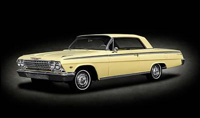 Photograph - 1962 Chevrolet Impala Super Sport 2 Door Hardtop  -  1962chevroletimpalasstexture172070 by Frank J Benz