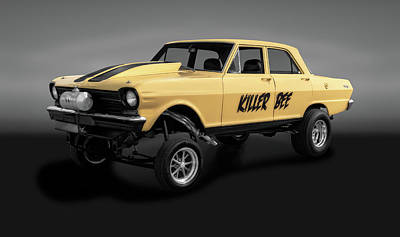 Photograph - 1962 Chevrolet Nova Street Legal Gasser  - 1962chevroletnovagasergray186062 by Frank J Benz