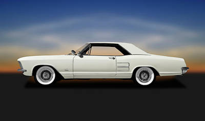 Photograph - 1963 Buick Riviera  -  1963buickriveriahardtopcoupe170813 by Frank J Benz
