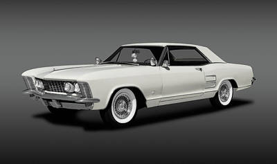 Photograph - 1963 Buick Riviera  -  1963buickriveriahdtpcpefa170799 by Frank J Benz