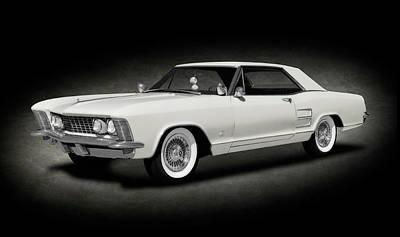 Photograph - 1963 Buick Riviera  -  1963buickriveriahdtpcpesptext170799 by Frank J Benz
