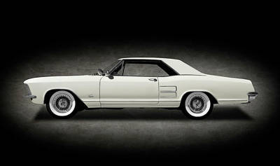 Photograph - 1963 Buick Riviera  -  1963buickriveriahdtpcpesptext170813 by Frank J Benz