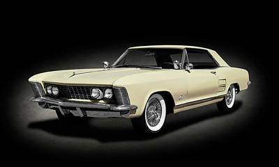 Photograph - 1963 Buick Riviera Hardtop  -  1963buickrivieraspttext185965 by Frank J Benz