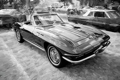 Photograph - 1963 Chevrolet Corvette Convertible A102 by Rich Franco