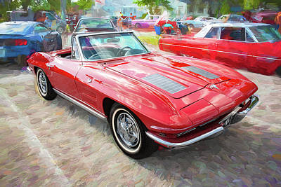 Photograph - 1963 Chevy Corvette Convertible A101  by Rich Franco