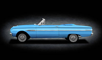 Photograph - 1963 Ford Falcon Futura  -  1963fordfalconcvtexture196286 by Frank J Benz
