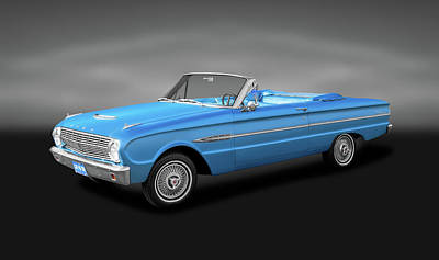 Photograph - 1963 Ford Falcon Futura  -  1963fordfalconfuturaconvertgray142462 by Frank J Benz
