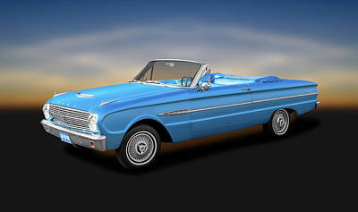 Photograph - 1963 Ford Falcon Futura  -  1963fordfalconfuturaconvertible142462 by Frank J Benz