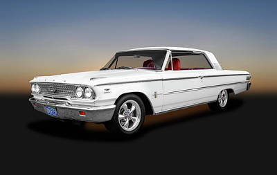Photograph - 1963 Ford Galaxie 500 Hardtop  -  1963fordgalaxie500cammerhardtop153119 by Frank J Benz