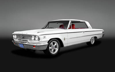 Photograph - 1963 Ford Galaxie 500 Hardtop  -  1963fordgalaxie500hardtopgray153119 by Frank J Benz