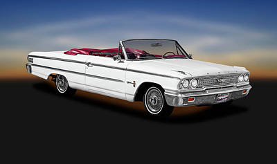 Photograph - 1963 Ford Galaxie 500 Xl Convertible  -  1963fordgalaxie500xlconvert196390 by Frank J Benz
