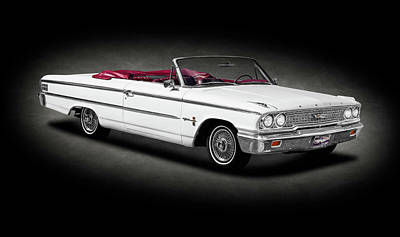 Photograph - 1963 Ford Galaxie 500 Xl Convertible  -  1963fordgalaxie500xlcvsptext196390 by Frank J Benz