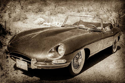 Photograph - 1963 Jaguar Xke Roadster-111s by Jill Reger