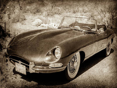 Photograph - 1963 Jaguar Xke Roadster-111scl by Jill Reger
