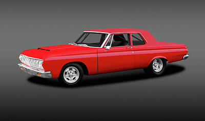 Photograph - 1964 Plymouth Belvedere  -  1964plymouthbelvederegray142436 by Frank J Benz