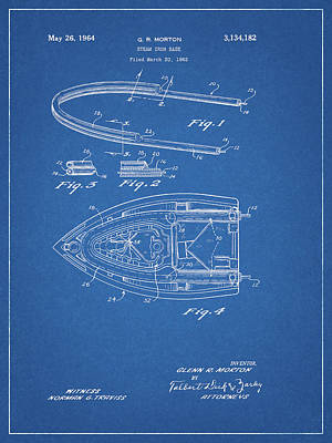 Drawing - 1964 Steam Iron Patent by Dan Sproul