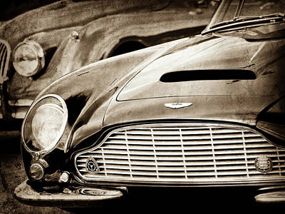 Photograph - 1965 Aston Martin Db6 Short Chassis Volante Grille-0970s2 by Jill Reger