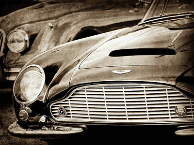 Photograph - 1965 Aston Martin Db6 Short Chassis Volante Grille-0970scl by Jill Reger