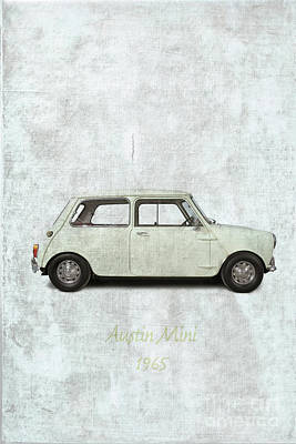 Design Turnpike Vintage Maps - 1965 Austin Mini  by Patricia Hofmeester