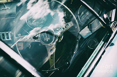 Photograph - 1965 Maserati Steering Wheel by Tim Gainey