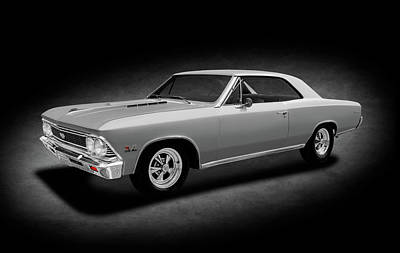 Photograph - 1966 Chevrolet Chevelle Super Sport Ss-396 Hardtop  -  1966chevelless396spottext153806 by Frank J Benz
