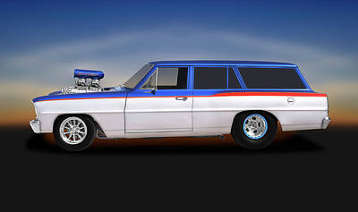 Photograph - 1966 Chevrolet Chevy II Nova Station Wagon  -  1966chevroletchevyiistationwagon196437 by Frank J Benz
