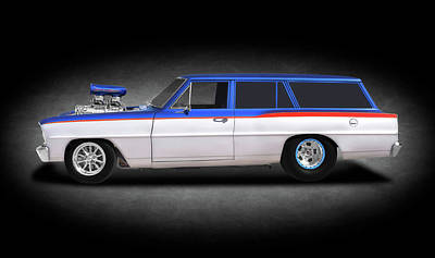 Photograph - 1966 Chevrolet Chevy II Nova Station Wagon  -  1966chevyiiwagontexture196437 by Frank J Benz