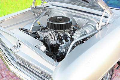 Photograph - 1966 Chevrolet Nova Super Sport  008 by Rich Franco