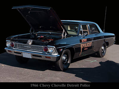 Photograph - 1966 Chevy Chevelle Detroit Police Car by Chris Flees