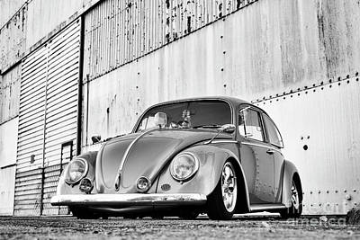 Photograph - 1966 Custom Beetle Monochrome by Tim Gainey
