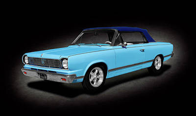 Photograph - 1967 Amc Rambler Rogue Convertible  -  1967amcramblerroguecvspttext186000 by Frank J Benz