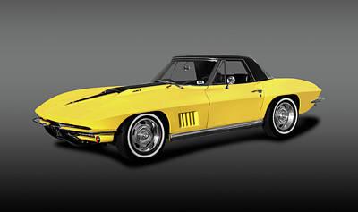 Photograph - 1967 C2 Chevrolet Corvette 427 Convertible  -  1967c2corvette427convertfa196360 by Frank J Benz