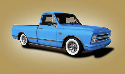 Photograph - 1967 Chevrolet C10 Pickup Truck  -  1967chevroletc10truckgold196535 by Frank J Benz