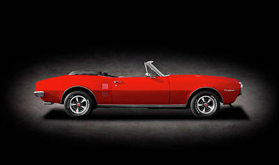 Photograph - 1967 Pontiac Firebird 400 Convertible  -  1967pontiacfirebird400cvspttext186049 by Frank J Benz