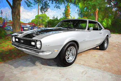 Photograph - 1968 Chevrolet Camaro 350 Ss A106 by Rich Franco