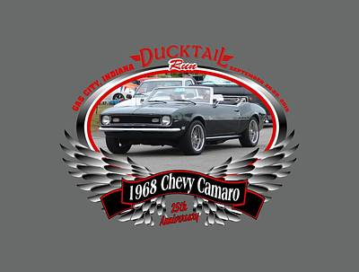 Photograph - 1968 Chevy Camaro Cunningham by Mobile Event Photo Car Show Photography