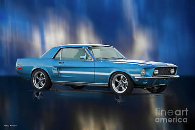 Classic Christmas Movies - 1968 Ford Mustang GT California Special by Dave Koontz