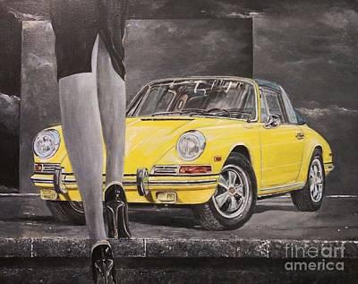 Painting - 1968 Porsche 911 Targa by Sinisa Saratlic