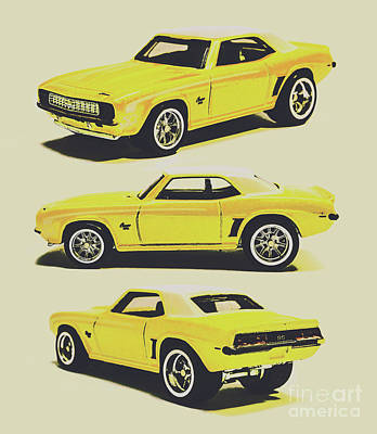 Automotive Paintings Royalty Free Images - 1969 Camaro Royalty-Free Image by Jorgo Photography - Wall Art Gallery