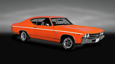 Photograph - 1969 Chevrolet Chevelle Ss-396  -  1969chevelless396hardtopgray170323 by Frank J Benz