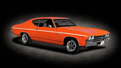 Photograph - 1969 Chevrolet Chevelle Ss-396   -   1969chevychevelless396hdtpspttext170323 by Frank J Benz