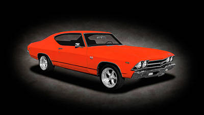 Photograph - 1969 Chevrolet Chevelle Ss-396 L78  -  1969chevelle396supersportspttext166543 by Frank J Benz