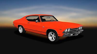 Photograph - 1969 Chevrolet Chevelle Ss-396 L78  -  1969chevellesupersportl78396hdtp166543 by Frank J Benz