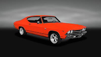 Photograph - 1969 Chevrolet Chevelle Ss-396 L78  -  1969supersport396chevellel78gray by Frank J Benz