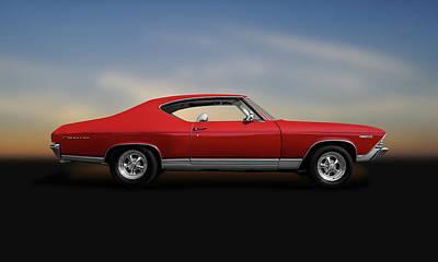 Photograph - 1969 Chevrolet Malibu 350  -  1969chevroletmalibu350hardtop140085 by Frank J Benz