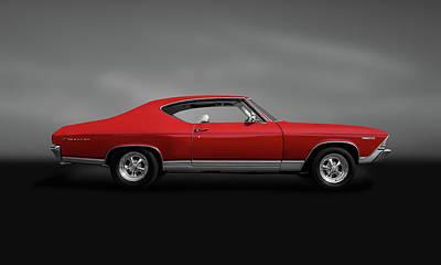 Photograph - 1969 Chevrolet Malibu 350  -  1969chevymalibu350hdtpgray140085 by Frank J Benz