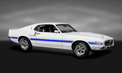 Photograph - 1969 Ford Shelby Cobra Mustang Gt-350   -  1969shelbycobramustanggt350gray173643 by Frank J Benz