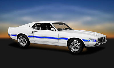 Photograph - 1969 Ford Shelby Cobra Mustang Gt-350   -  1969shelbymustanggt350coupe173643 by Frank J Benz