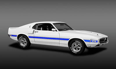 Photograph - 1969 Ford Shelby Cobra Mustang Gt-350  -  1969shelbymustanggt350fine173643 by Frank J Benz