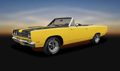 Photograph - 1969 Plymouth Road Runner  -  1969plymouthroadrunnerconvertible15329 by Frank J Benz